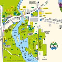 Sneem Village map