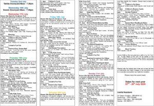 Summer Festival Events programme